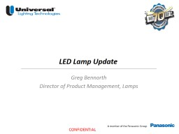 LED Lamp Update Greg Bennorth PowerPoint PPT Presentation