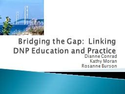 Bridging the Gap:  Linking DNP Education and Practice PowerPoint PPT Presentation