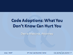 Code Adoptions: What You Don't Know Can Hurt You