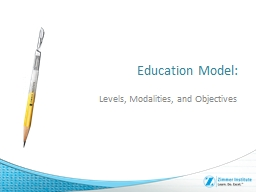 Education Model: Levels, Modalities, and Objectives