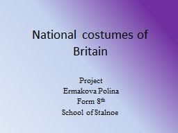 National costumes of Britain
