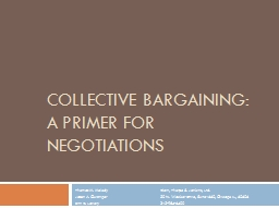 Collective Bargaining: