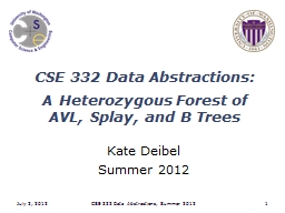CSE 332 Data Abstractions: