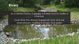 Rivers As a stream forms, it PowerPoint PPT Presentation