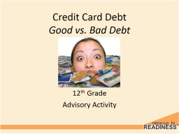 Credit Card Debt Good vs. Bad Debt