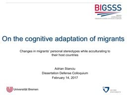 Changes in migrants' personal stereotypes while acculturating to their host countries