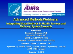 Advanced  Methods  Webinars: