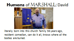 Humans  of  Marshall: