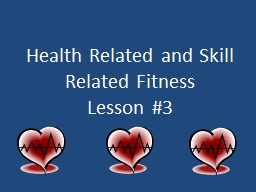 Health Related and Skill Related Fitness
