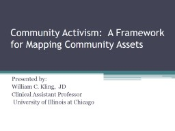 Community Activism:  A Framework for Mapping Community Assets PowerPoint Presentation, PPT - DocSlides