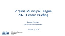 2020 Census  Virginia Municipal League