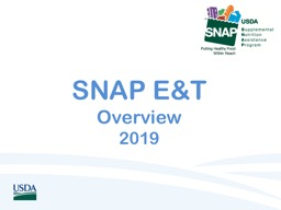SNAP E&T  Overview