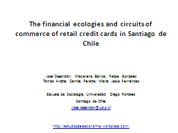 The financial ecologies and circuits of commerce of retail credit cards in Santiago de Chile