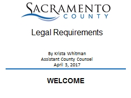 By Krista Whitman Assistant County Counsel