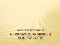 African American Studies & Research Center