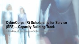 CyberCorps  (R) Scholarship for Service (SFS) –