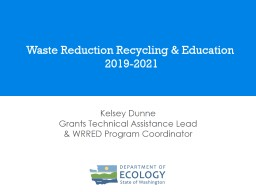 Waste Reduction Recycling & Education