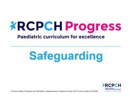 Safeguarding  Learning outcome
