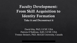 Faculty Development: