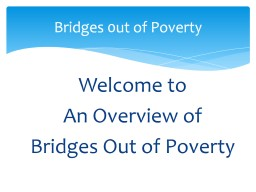 Bridges 0ut of Poverty PowerPoint PPT Presentation