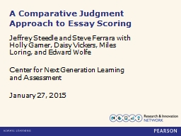 Comparative Judgment as a Novel Approach to Operational Scoring,