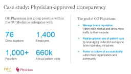 The goal at OU Physicians:
