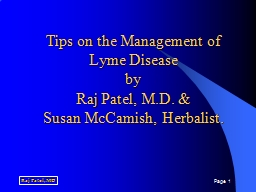 Tips on the Management of