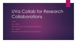 UVa Collab for Research Collaborations