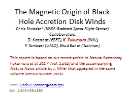 The Magnetic Origin of Black Hole Accretion Disk Winds