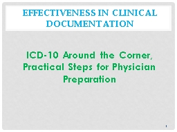 Effectiveness in Clinical Documentation