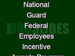 Missouri National Guard Federal Employees Incentive Awards Program