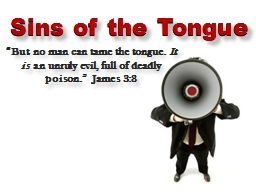 "Sins of the Tongue ""But"