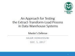 An Approach for Testing