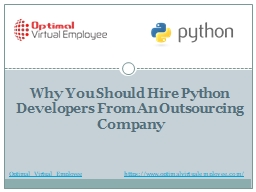 Why you should hire Python developers from an outsourcing company