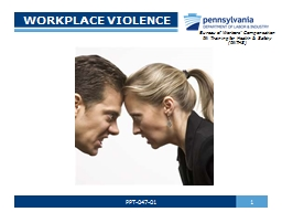 WORKPLACE VIOLENCE 1 PowerPoint PPT Presentation