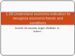 Describe the economic impact of inflation on business