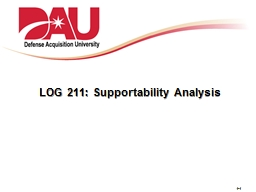 LOG 211: Supportability Analysis