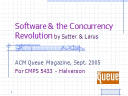 Software & the Concurrency Revolution