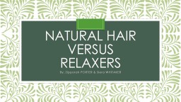 Natural Hair versus
