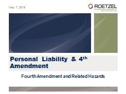 Personal Liability & 4