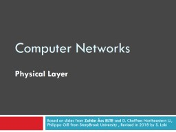 Computer  Networks Physical
