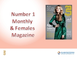 Number 1 Monthly  & Females