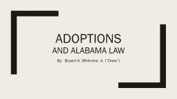 Adoptions and Alabama Law