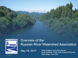 Overview of the  Russian River Watershed Association