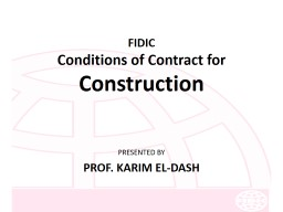FIDIC Conditions of Contract for