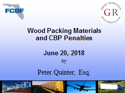 Wood Packing Materials