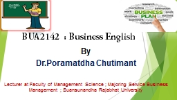 BUA2142 : Business English