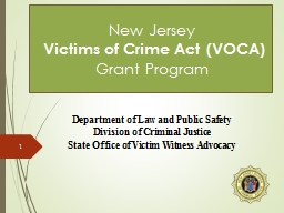 New Jersey   Victims of Crime Act (VOCA)