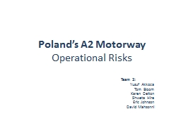 Poland's A2 Motorway PowerPoint PPT Presentation