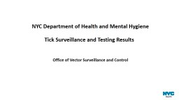 Overview of Tick  Surveillance